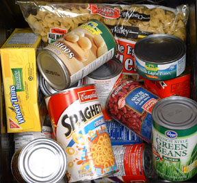 Canned foods for the homeless